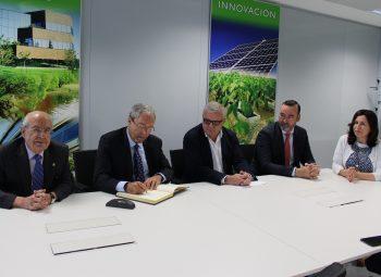 Rogelio Velasco, visitó el Parque Científico Tecnológico de Almería (PITA)